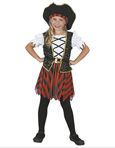Party Fiesta Disfraz De Pirata Glam para Niña (5-6)