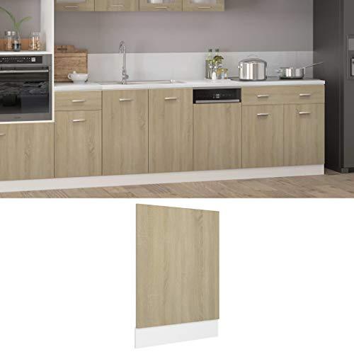VIENDADPOW Panel lavavajillas aglomerado Roble Sonoma 45x3x67cm