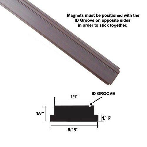 """Flexible Magnetic Strip Insert for Framed Swing Shower Doors - 84"""" long"""