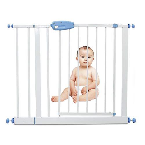 Leogreen - Cancelletto Di Sicurezza Per Bambini, Cancelletto Regolabile Per La Scala, estensione da 88 a 101 cm, Bianco, Larghezza: 74-87 cm