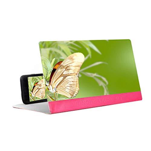 PeriwinkLuQ - Lupa esterioscópica para teléfono móvil, amplificadora de 12 pulgadas, soporte de escritorio de piel sintética, plegable, soporte de vídeo HD para todos los smartphones