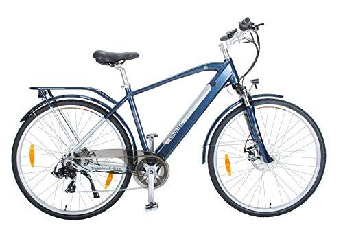 smartEC Trek-28H Trekking E-Bike 28 Zoll, Rahmen-Akku, 7 Gänge, Hinterrad-Nabenmotor, Fahrunterstützung 25 km/h, Reichweite 70 km, Li-Ion-Akku 36v, 250 Watt