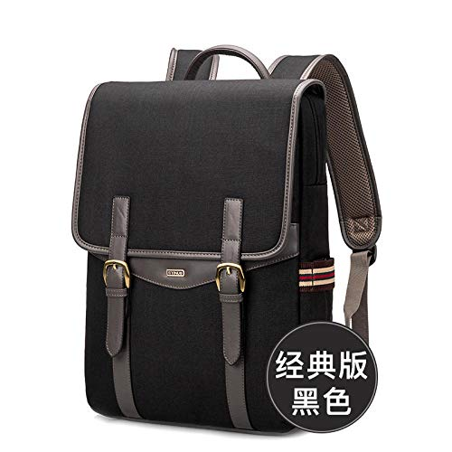 Outdoor travel computer bag female shoulders portable laptop backpack macbook small fresh one shoulder good-looking computer bag backpack-14 inches_black