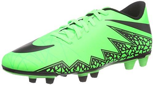 Nike Hypervenom Phade II FG, Botas de fútbol para Hombre, Green Strike/Black-Black, 44 EU