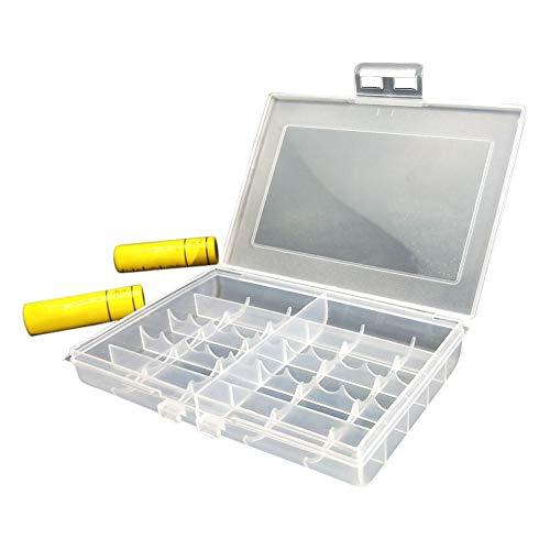 Organizer voor batterijen, opbergdoos, plastic houder, AA AAA-batterij, compacte opbergdoos, lichtgewicht tas, tas, houder 12 x 8,5 x 2 cm