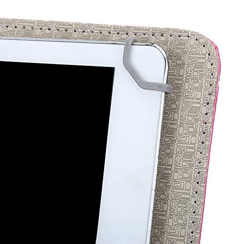ciciglow Teclado + Funda de Cuero PU, ecológico, fácil de Transportar, para una Experiencia de Uso cómoda(10-Inch Keyboard + Leather Case Rose Red)