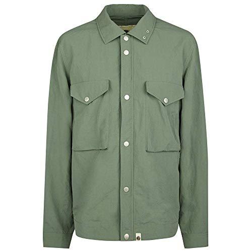 Pretty Green Jacket Nylon Overshirt - Green - XS