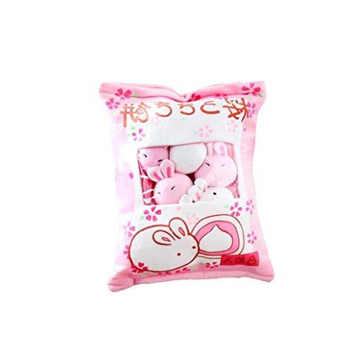 NorCWulT 1bag Plüsch Mini Dolls Pudding Plüschtiere Simulation Innovative Snacks Puppe-weiches Sofa-Kissen Für Hauptdekoration (hase)