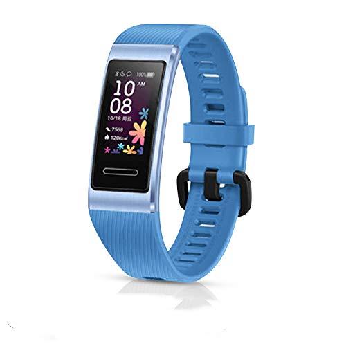 Taianle - Correa de silicona para reloj de pulsera, reemplazo universal para bandas deportivas transpirables de negocios, compatible con Huawei Band 3 Pro y Band 4 Pro