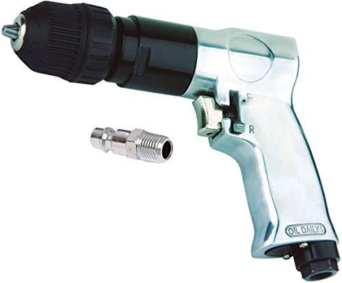 """TALADRO NEUMATICO reversible automático 10 mm para compresor de AIRE COMPRIMIDO 1800RPM (incluye racor macho de 1/4"""")"""