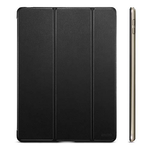 ESR iPad Pro 10.5/iPad Air 3 ケース 軽量 薄型 スタンド オートスリープ機能 PUレザー 半透明 傷つき防止 三つ折タイプスマートカバー iPad 10.5インチ(モデル番号A1701 A1709 A2123 A2153)2017版専用(ダークブラック)