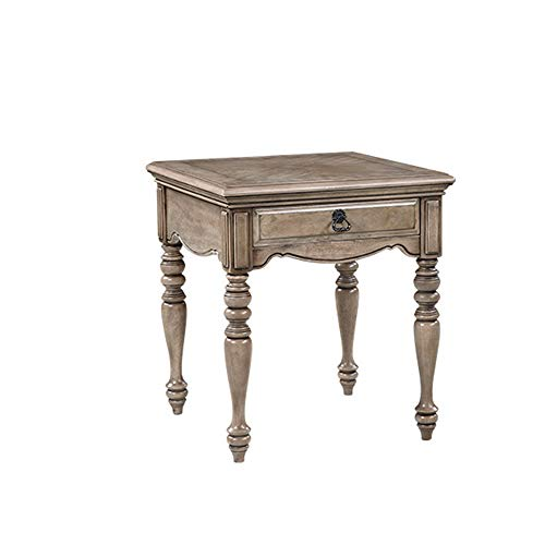 Coffee Tables Mini Vintage Bedroom End Table Rustic Style Sofa Side Cabinet Country Wooden Side Lockers Side Cabinets Pastoral Side Table for Office Furniture (Color : Gray, Size : 60x60x66cm)