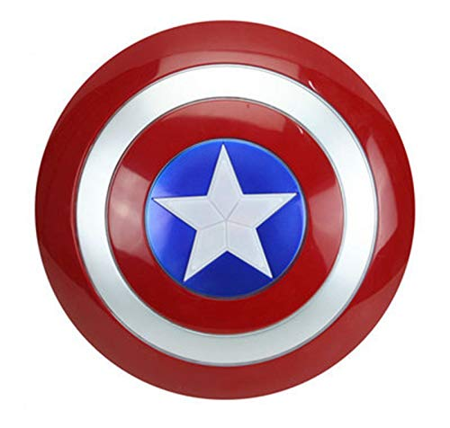 Escudo Capitan America 1: 1 Adulto Apoyos de Película Niños Hierro Forjado CapitáN AméRica Shield Vengadores Capitán América Disfraz A,32CM