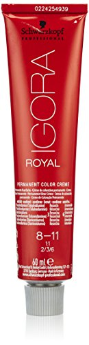 Schwarzkopf IGORA Royal Premium-Haarfarbe 8-11 hellblond cendré extra, 1er Pack (1 x 60 g)