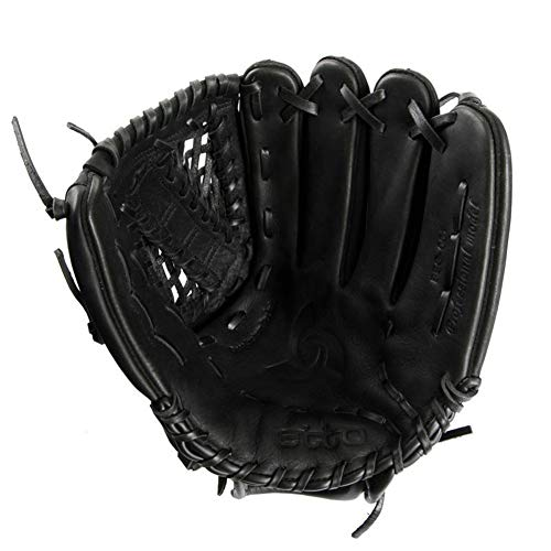 Guantes De BéIsbol Bisbol Guantes Baseball De Bateo Hand Baseball Glove Sporting Goods Sporting Goods Basket Glove Softball Adulto Izquierda Color Negro Amortiguador CueroLeft hand-11.5