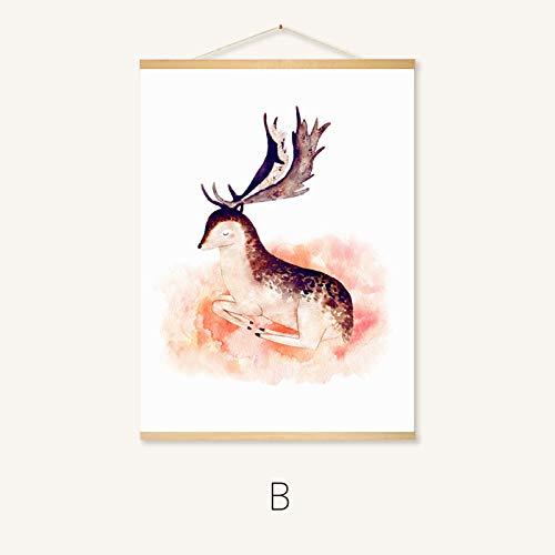 Woonkamer schilderij rolbeeld studie schilderij Scandinavische minderheid schilderij decoratief schilderwerk 60 * 40cm B