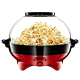 Gadgy Popcorn Maker Machine Round | Air Popcorn Maker | 5 Litre Capacity | 800W | Air Popper with Non-Stick Coating | Add Your Own Flavouring | Fast & Quiet