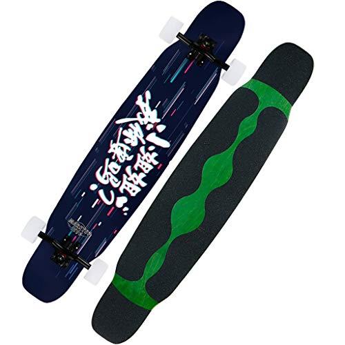 YXB Outdoor Lunga del Pattino, motorino di Viaggio a Quattro Ruote con Striscia Sticker anticollisione H1/22 (Color : C)