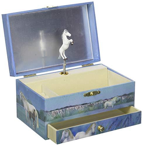 TROUSSELIER - Sirène - Boîte à Bijoux Musicale - Idéal Cadeau Jeune Fille - Musique Lullaby de Schubert - Colori Bleu turquoise