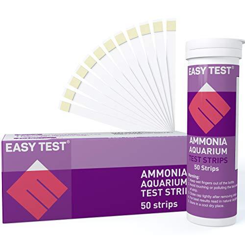 EASYTEST Ammoniak Aquarium Teststreifen für Süß- und Salzwasser | 50 Stück | genaue und praktische Überwachung der Aquarienwasserqualität