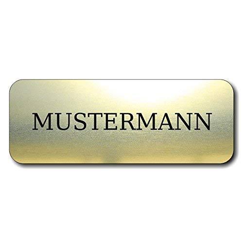 Türschild, Briefkastenschild, Klingelschild, 70-300-005 Acryl, Oberfläche Gold gebürstet oder Edelstahl gebürstet, individuell anpassbar