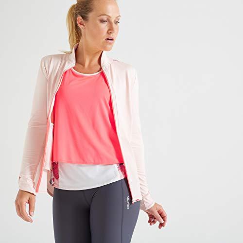 Domyos 8526536 Women's Light Weight Fitness Sports Jacket, UK 18 / FR 48 (Pink)