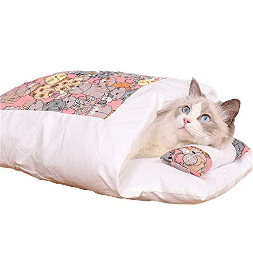 Saco de dormir para gatos (rosa, pequeño)