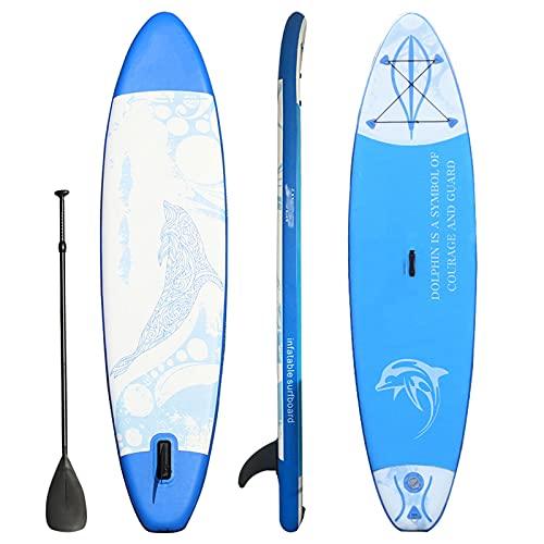 MXSXN Tabla De Surf Portátil Inflable Stand Up Paddle Board 9.8 'Plegable Inflable Crucero A La Deriva Tabla De Surf Paddle Board,A