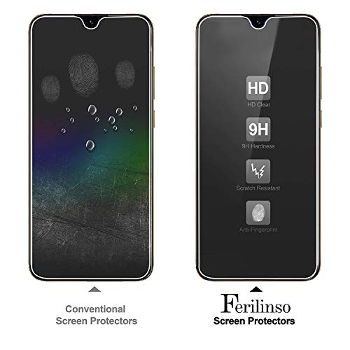 Ferilinso Schutzfolie Kompatibel mit Huawei Y6 2019 / Huawei Y6 Pro 2019 / Honor 8A, [3 Pack] Panzerglas Schutzfilm aus gehärtetem Glas (Transparent) - 2