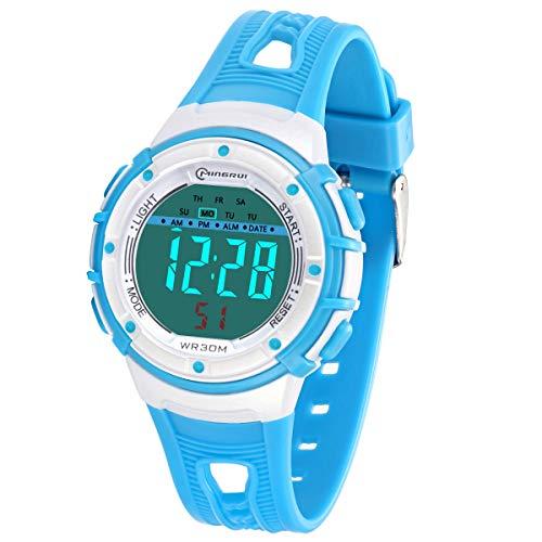 Reloj Digital para Niños Niña Infantil LED Reloj de Pulsera Niña con Pantalla Impermeable para Niños Niñas Reloj Infantil Aprendizaje