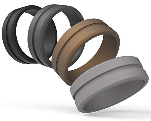 MAUI RINGS Ring Herren Ring Silicone Wedding Ring for Men Sport Ring Gummi Ring Herren Schmuck Ringe Set Ringe Geschenk Für Männer mit einem aktivem Lebensstil Fitness Accessories