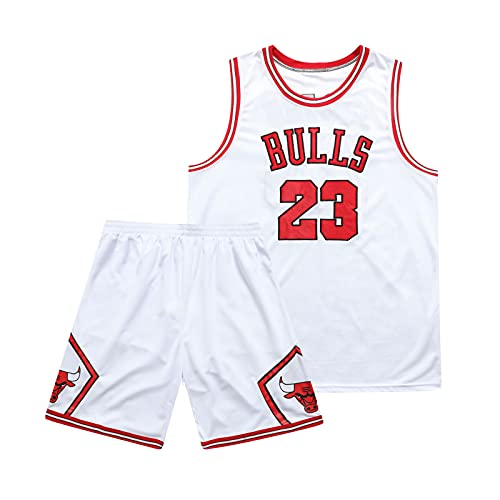 JZSZ Bulls Michael # 23 Camiseta de Baloncesto y Pantalones Cortos, Camiseta...