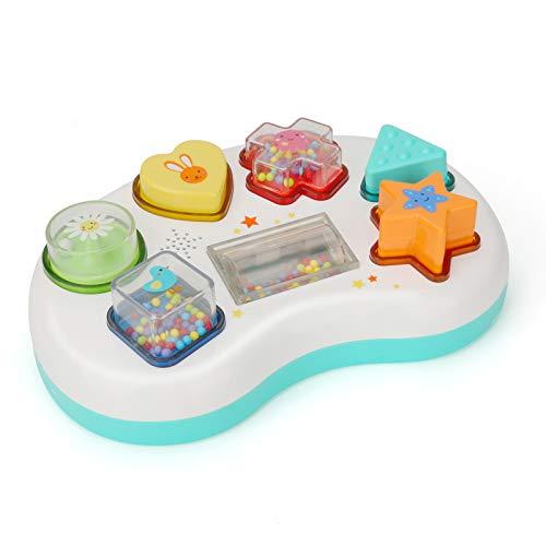 CestMall Juguete clasificador de Formas de Sonido con Luces, Juguete para Centro de Actividades para bebés con 3 Modos, Juguete de educación temprana, Juguetes de Regalo, con Sonidos y luz Juguete