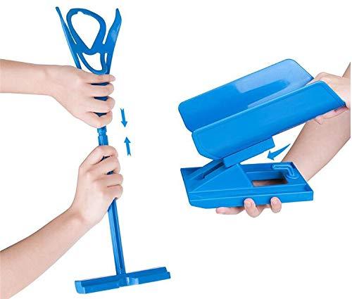 Sockenanziehhilfe & Ausziehhilfe für Senioren oder körperlich eingeschränkte Menschen - Sockenbutler für Socken, Strümpfe & Kompressionsstrümpfe jeder Art - Anziehhilfe blau