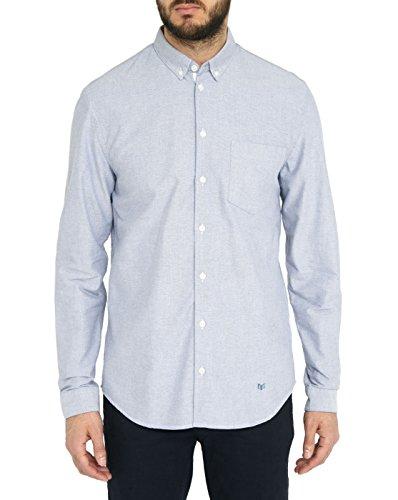 MINIMUM - Hemden Casual - Herren - Blaues Baumwollhemd Jay für herren - S