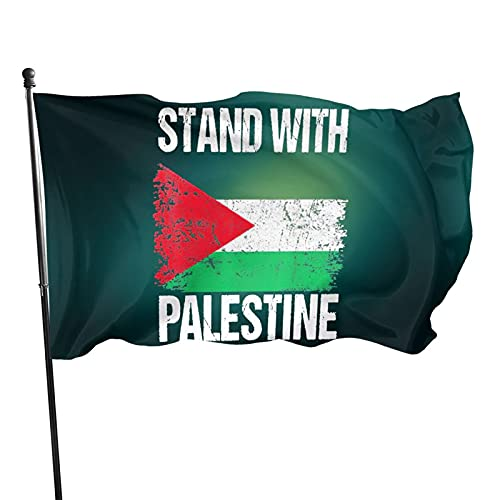 Stand with Palestine Flags Garden Flag Home Decor Welcome Sign for Front Door Outdoor Holiday Decorations,3 * 5ft