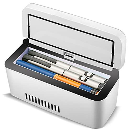Refrigerador De Insulina Portátil Mini Nevera De Medicamentos Refrigerador De Automóvil 2-8 ° C Utilizado Para Refrigeración De Interferón, Insulina Y Otros Medicamentos