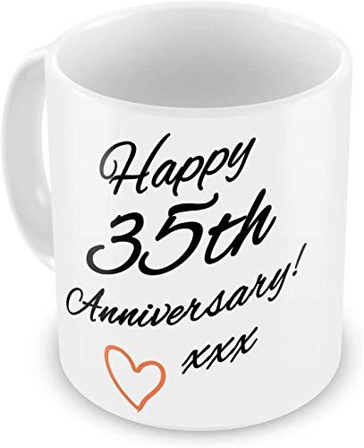 Happy 35th Anniversary - Tazas de regalo