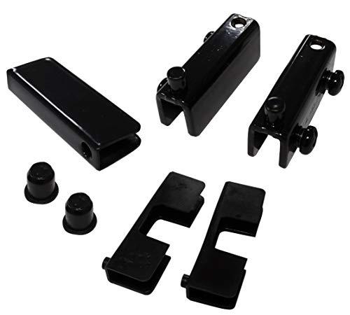 Aerzetix C41060 scharnier voor glazen deur, glas, zwart, 2 stuks