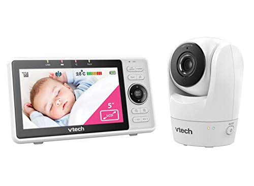 VTech RM5762 Wi-Fi 1080p HD Pan & Tilt Video Baby Monitor with Remote Access, White