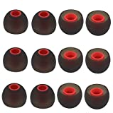 BLLQ 12PCS Replacement Ear Tips Earbuds Eartips Eargels Earpads Silicone Buds for Senso, TOZO, Sony & Other Inner Hole 3.8mm in-Ear Headphones [M]