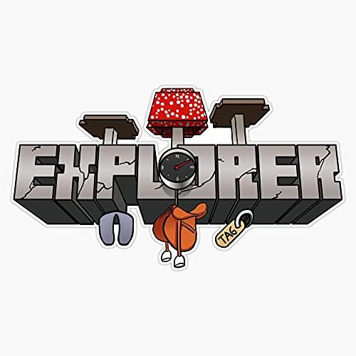 "STG Trading Minecraft Explorer Vinyl Bumper Sticker Decal Waterproof 5"""