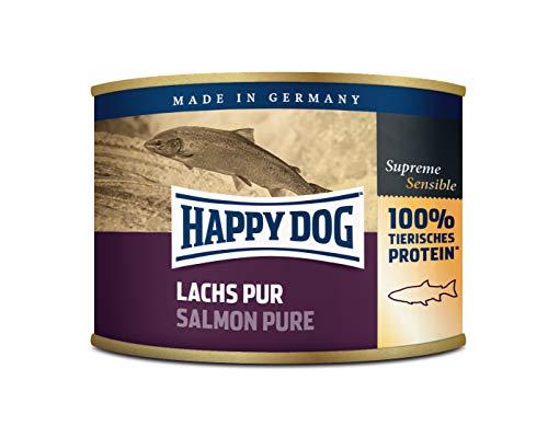 Happy Dog blik zalm Pur, 6-pack (6 x 190 g)