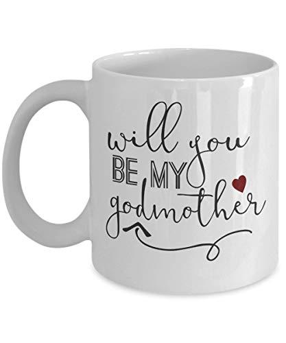 Will You Be My Godmother - Taza de café para madrina, regalo para el día de San Valentín, regalo para padrinos, regalo para bebés