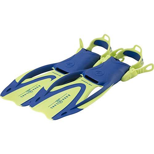 Aqua Lung Sport Zinger, Pinna Unisex-Youth, Verde Brillante/Azzurro, S