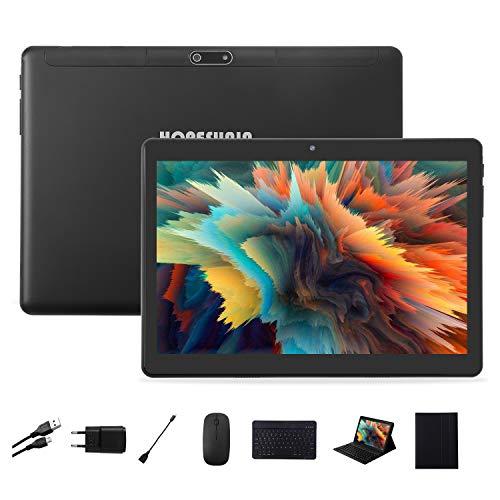 HOPESUNIN Tableta Android 9.0 de 10,1 pulgadas, ultrarrápida, 4 GB de RAM, 64 GB de ROM, certificación Google GSM, ultrafina, 8000 mAh/5 MP, 8 MP/tipo C (negro)
