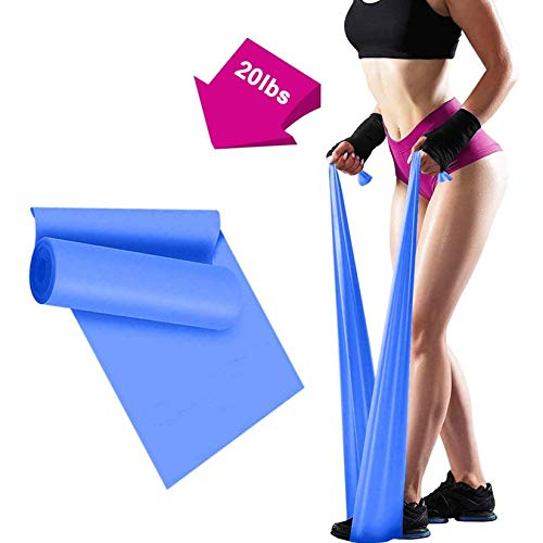 Resistance Bands - 2m Professional Latex Elastic Band for Home or Gym Upper & Lower Body, Physical Therapy, Strength Training, Yoga, Pilates, Rehab Fitness Bands (Blue)