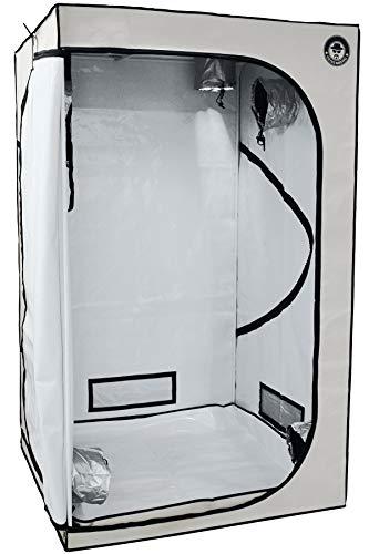 Imagen del productoHeisenberg Growbox Blanco Carpa de Cultivo Armario de Cultivo para el Cultivo en casa, Cultivo de Plantas de Interior (120x120x200)