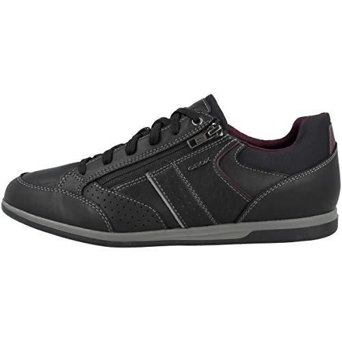Geox Herren U Renan A Sneaker, Schwarz (Black C9999), 44 EU
