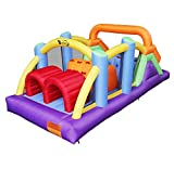 BESTPARTY Obstacle Course Inflatable Bounce House Castle with Large...